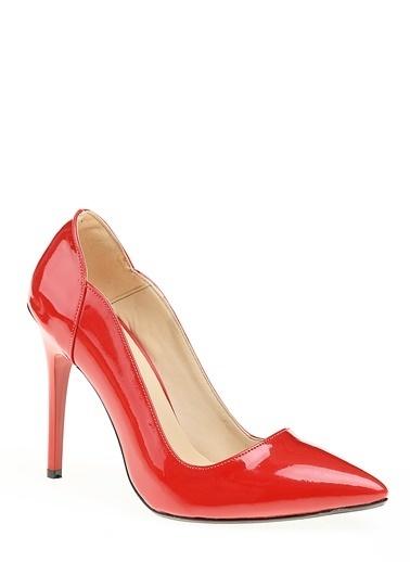 D by Divarese İnce Topuklu Ayakkabı Kırmızı